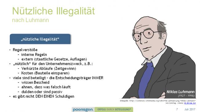 Nützliche Illegalität nach Luhmann